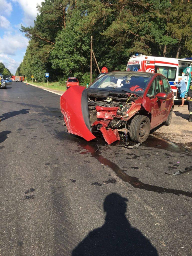 Wypadek na trasie Więcbork – Złotów [DW189]. Na miejscu Lotnicze Pogotowie Ratunkowe