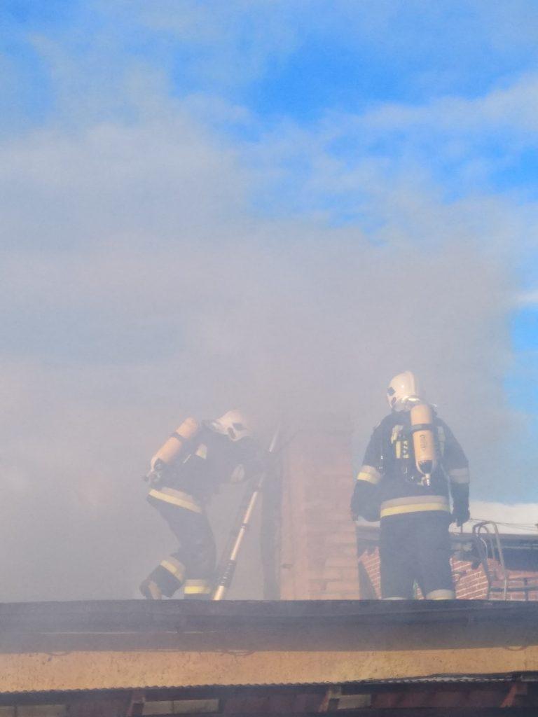 Sypniewo: Pożar sadzy przy ul. 29 Stycznia