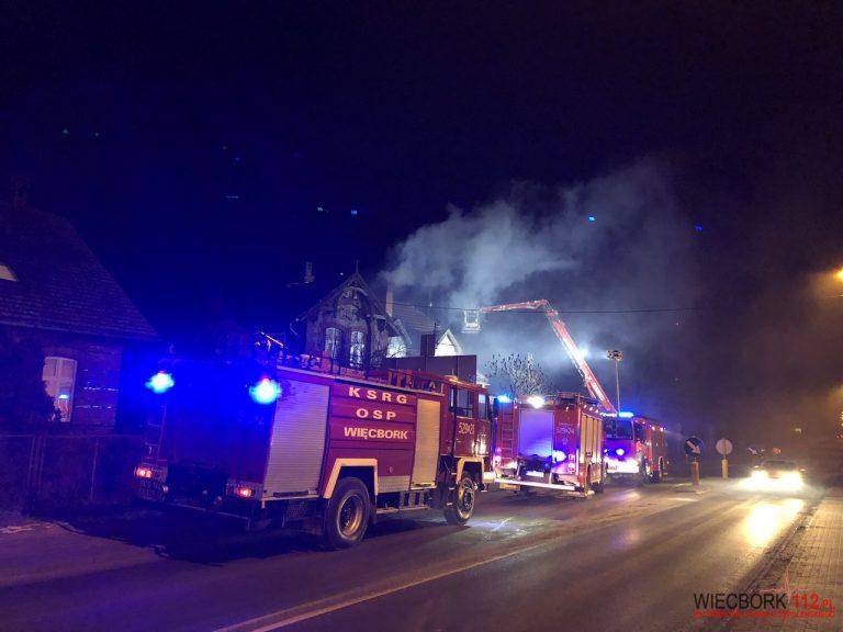 Pożar przy ulicy Gdańskiej w Więcborku