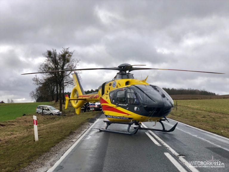 Wypadek na drodze krajowej nr 25. Trzy osoby poszkodowane