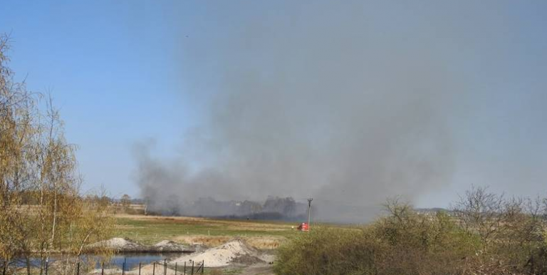 Strażacy walczą z pożarami traw