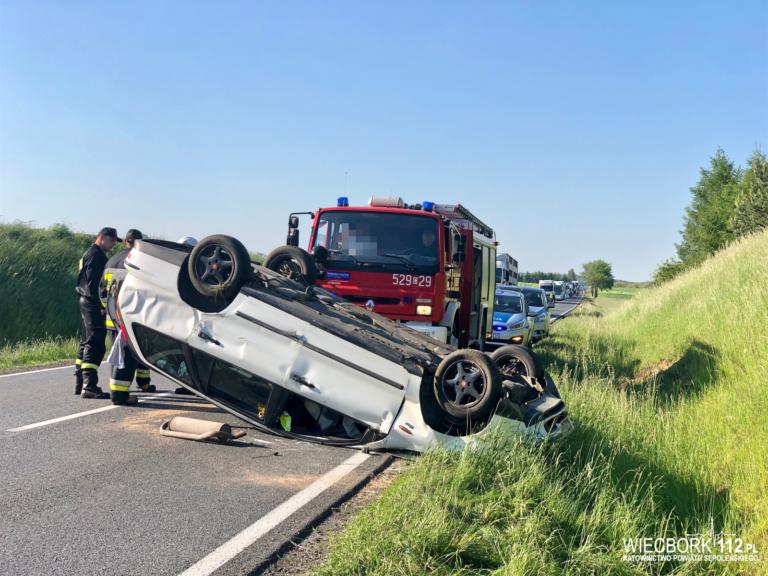 Wypadek na trasie Sępólno – Kamień – Na miejscu LPR [FOTO/Wideo]