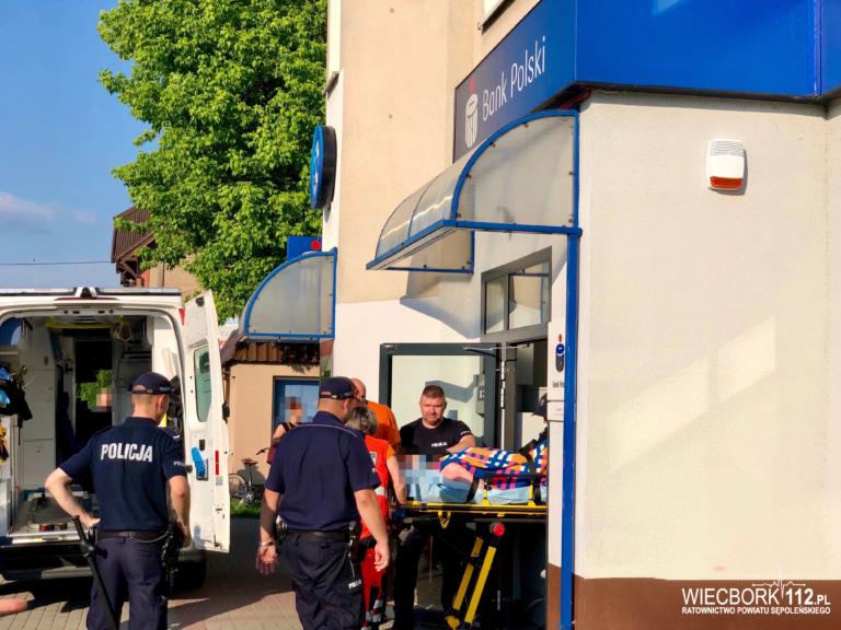 Sępólno: 29-latek wdarł się do banku i chciał popełnić samobójstwo (WIDEO)
