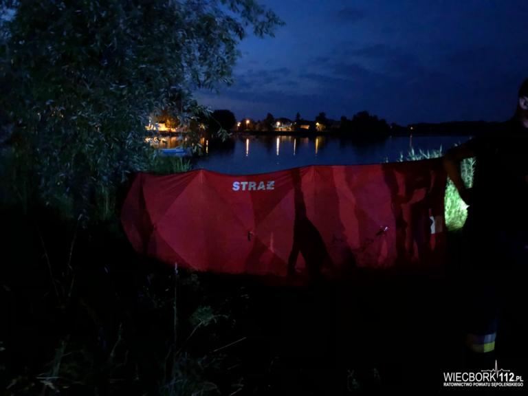 Tragedia nad jeziorem w Więcborku. Nie żyje 56-letni mężczyzna