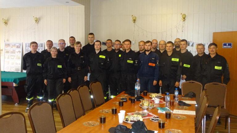 Szkolenie kierujących działaniem ratowniczym dla członków OSP (DOWÓDCÓW OSP) z poza KSRG z powiatu sępoleńskiego.