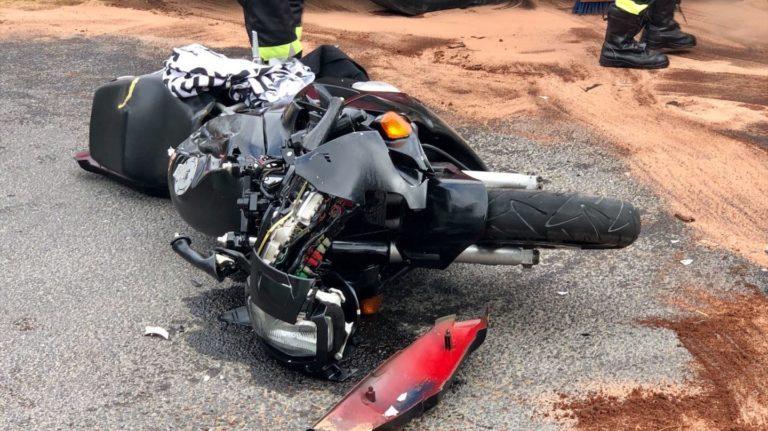 Zderzenie motoru z samochodem ciężarowym w Sępólnie Krajeńskim