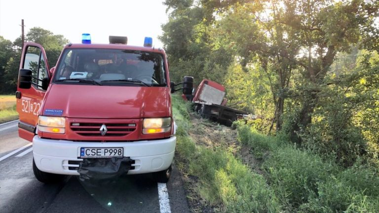 Zdarzenie drogowe na trasie Sępólno Krajeńskie – Przepałkowo