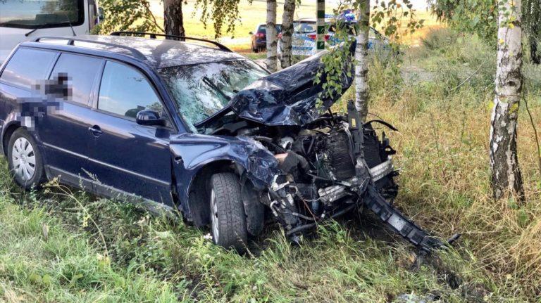 Zderzenie dwóch aut na trasie Sępólno Krajeńskie – Więcbork